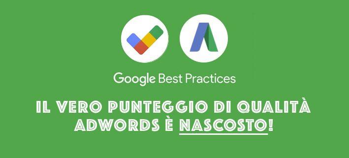 Il fattore punteggio qualità nelle campagne Google Adwords