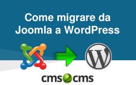 Migrazione Joomla WordPress, best practise.