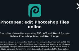 Photopea, editor grafico free, online,