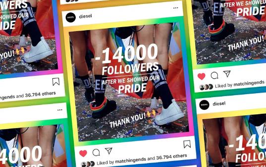 Valore del brand, Diesel perde follower con i festeggiamenti del Pride; cosa è successo.