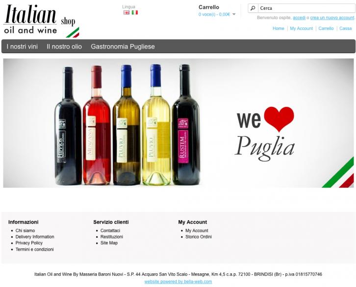 Italian Oil And Wine, Shop